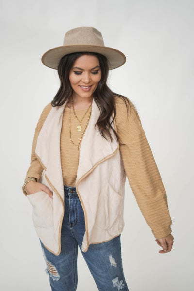Vanilla Bean Fuzzy Vest *Final Sale*