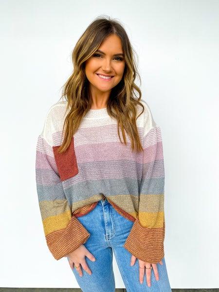 Lillian Multi Color Striped Sweater