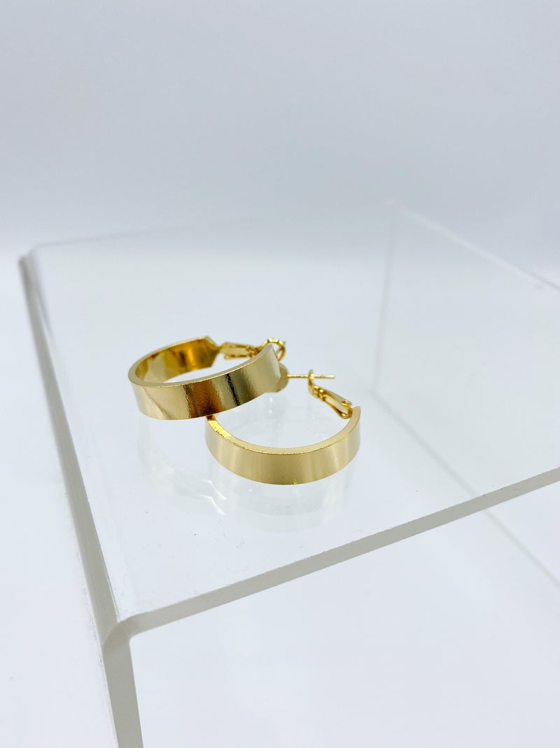 The Renee Thick Gold Hoop