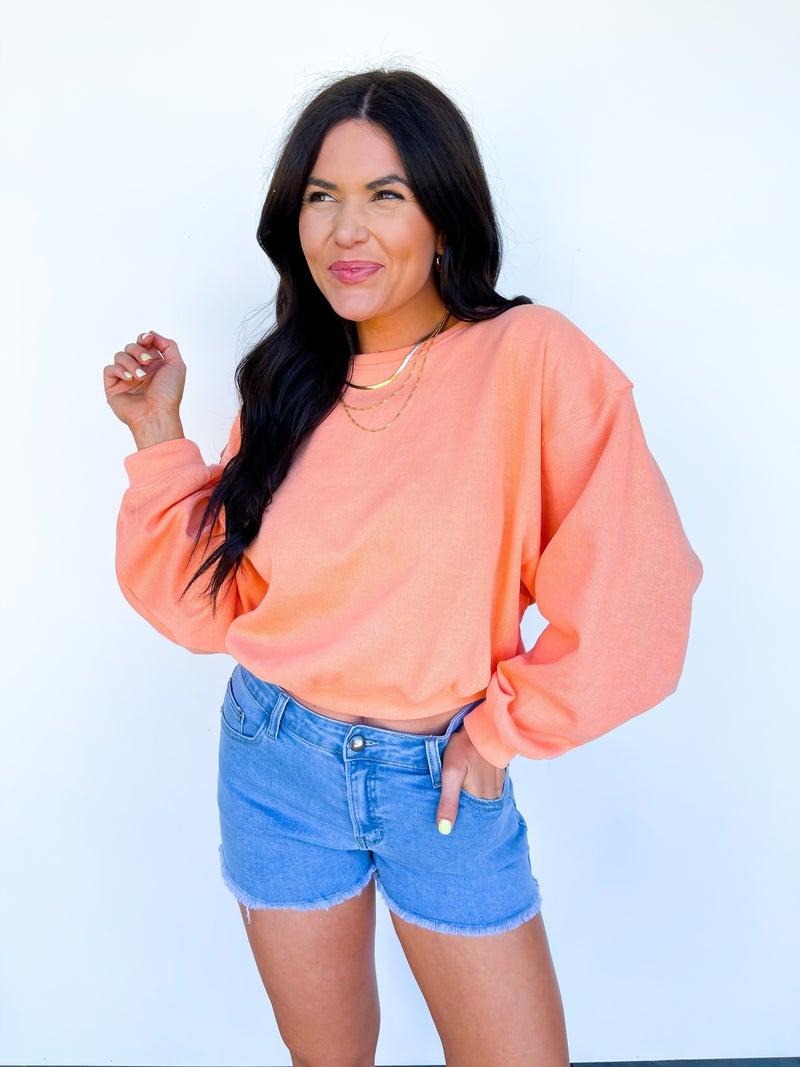 Shine Bright Sweatshirt - Tangerine