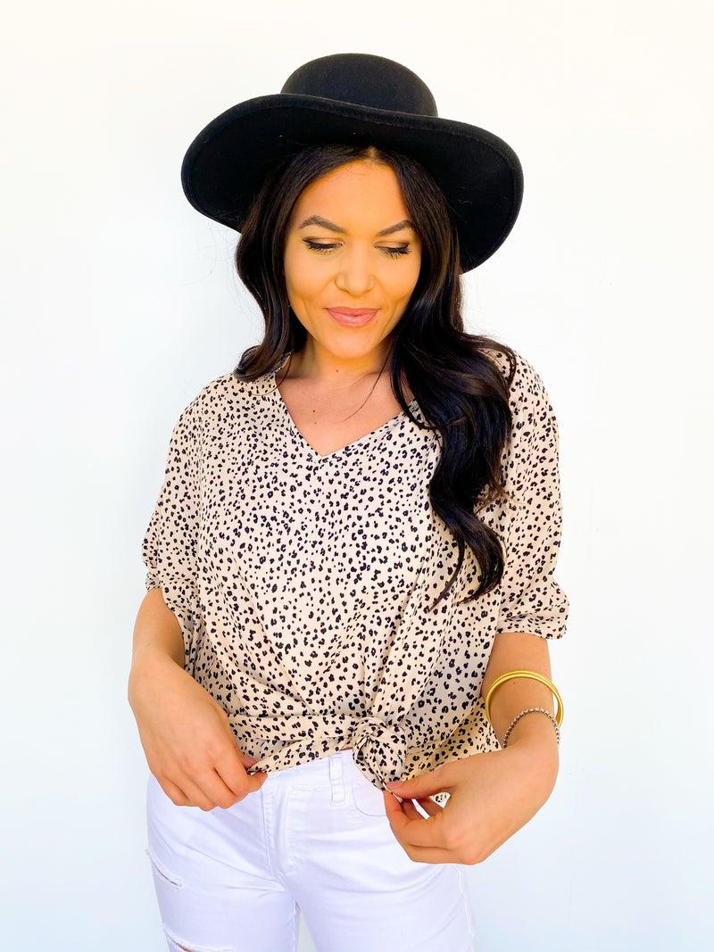 The Kourt Oversized Cheetah Top