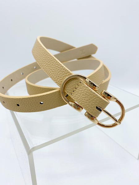 The Keegan Thin Double Buckle Belt