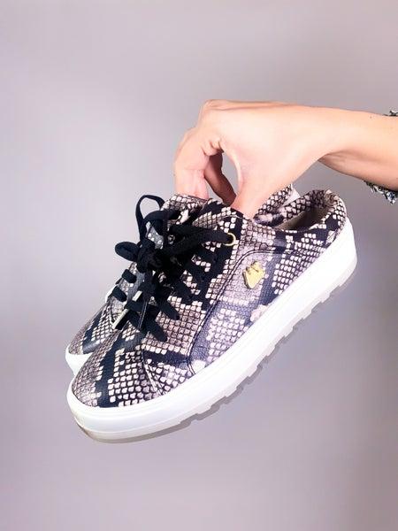 Maggie Mae Snake Slide On Sneaker