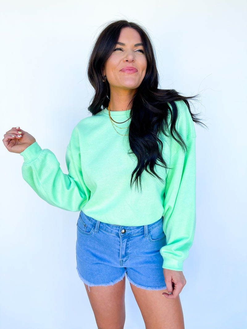 Shine Bright Sweatshirt - Pistachio