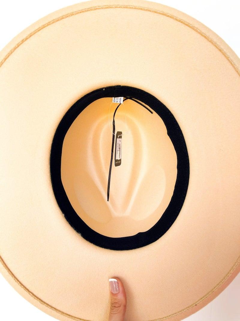 Creme Stiff Brim Hat