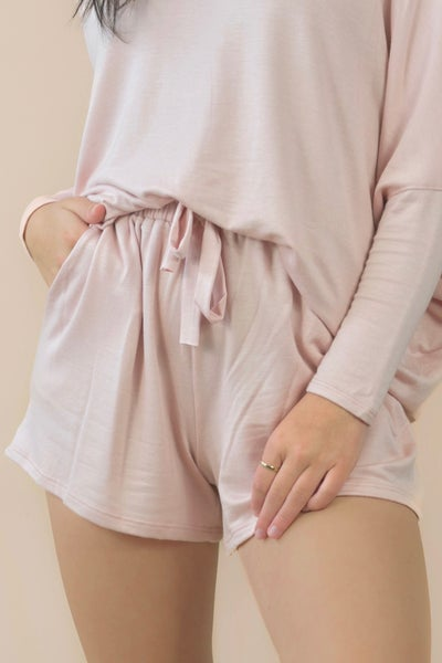 So Heavenly Blush Shorts *Final Sale*