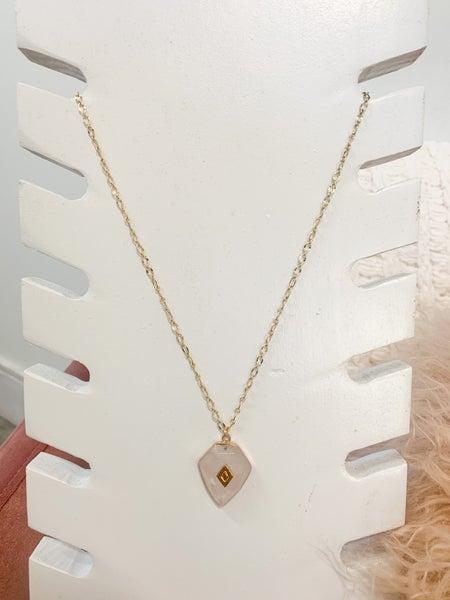 Make Me Blush Geode Necklace