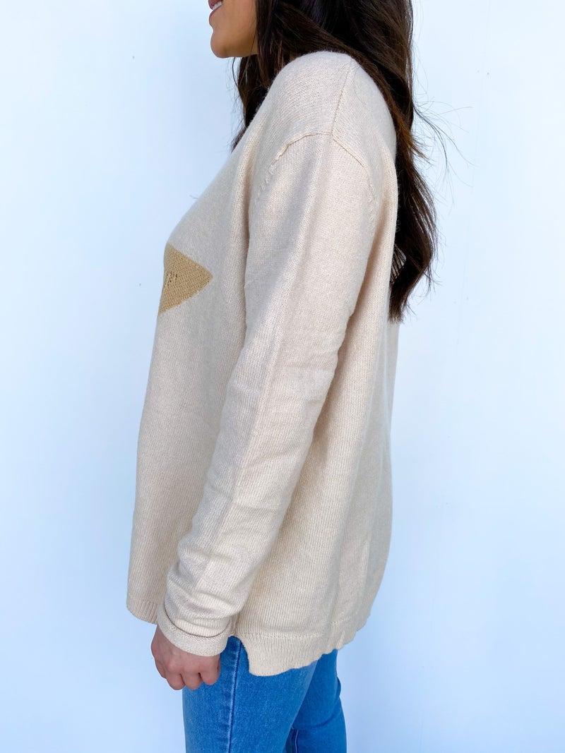 Staring At The Stars Sweater Cream/Ivory