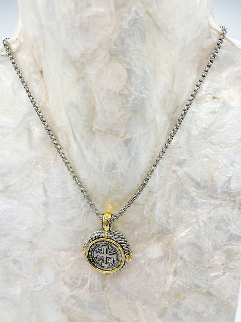 St. Benedict Chunky Medallion Necklace