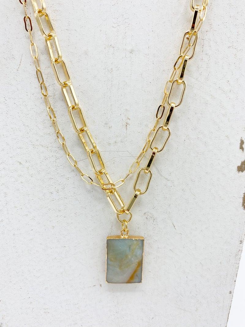 Kiki Chain Geode Stone Necklace