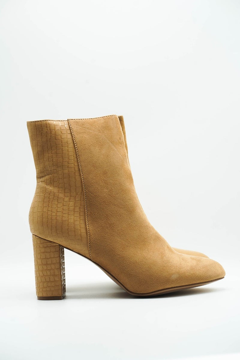 The Zenya Taupe Bootie
