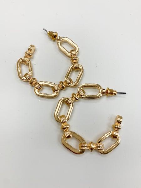 The Carmen Chain Hoop Earring