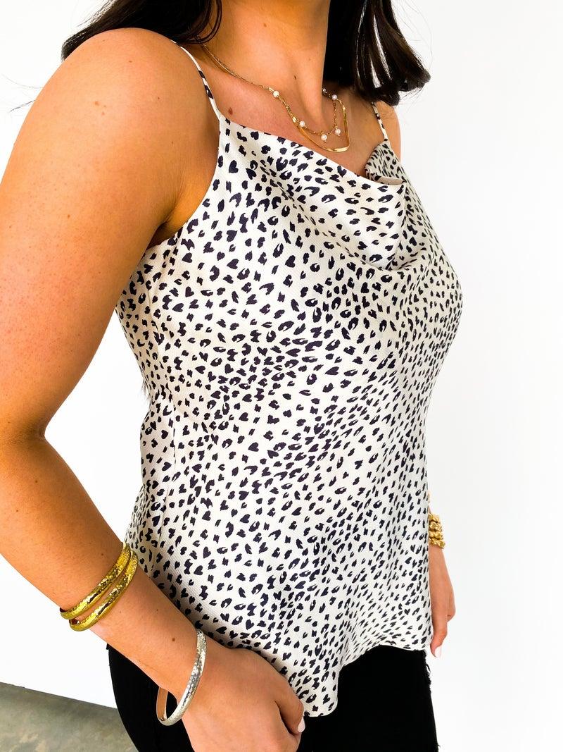Baby Cheetah Cowl Neck Cami