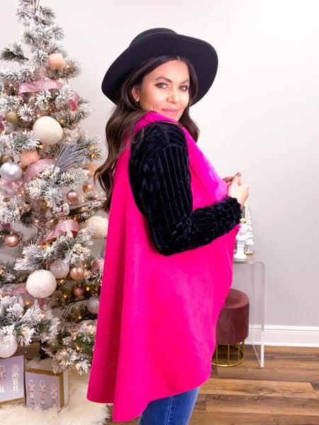 ShowstopHER Hot Pink Fur Vest *Final Sale*
