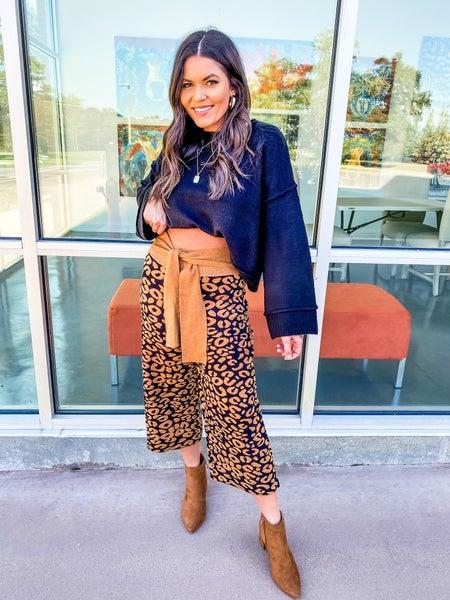 Taylor Wide Leg Cheetah Pant *Final Sale*