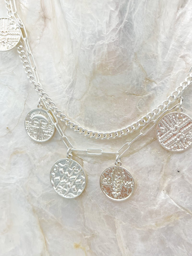 Yaya Layered Necklace With Greek Coins