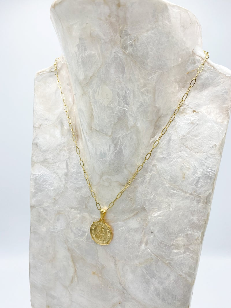 Coin Pendant Chain Necklace *Final Sale*