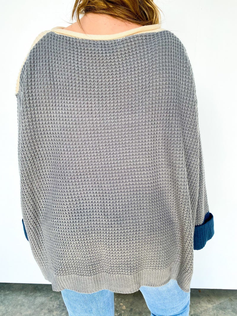 Oliver Oversized Colorblock Sweater