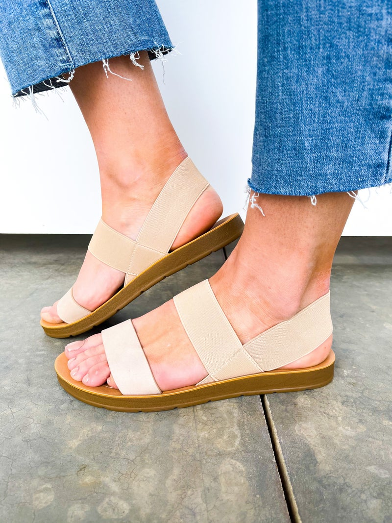 Boost Elastic/Leather Sandal
