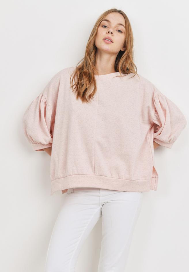 Posie Puff Sleeve Sweatshirt