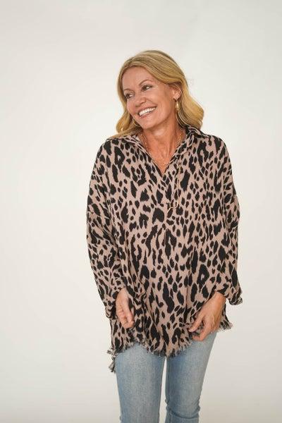 Minty Meow Cheetah Tunic *Final Sale*