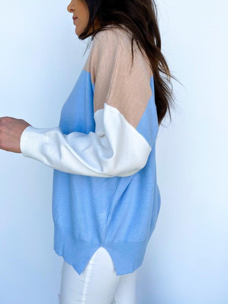 The Cora Color Block Sweater