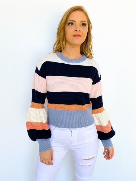 Pastel Princess Stripe Sweater
