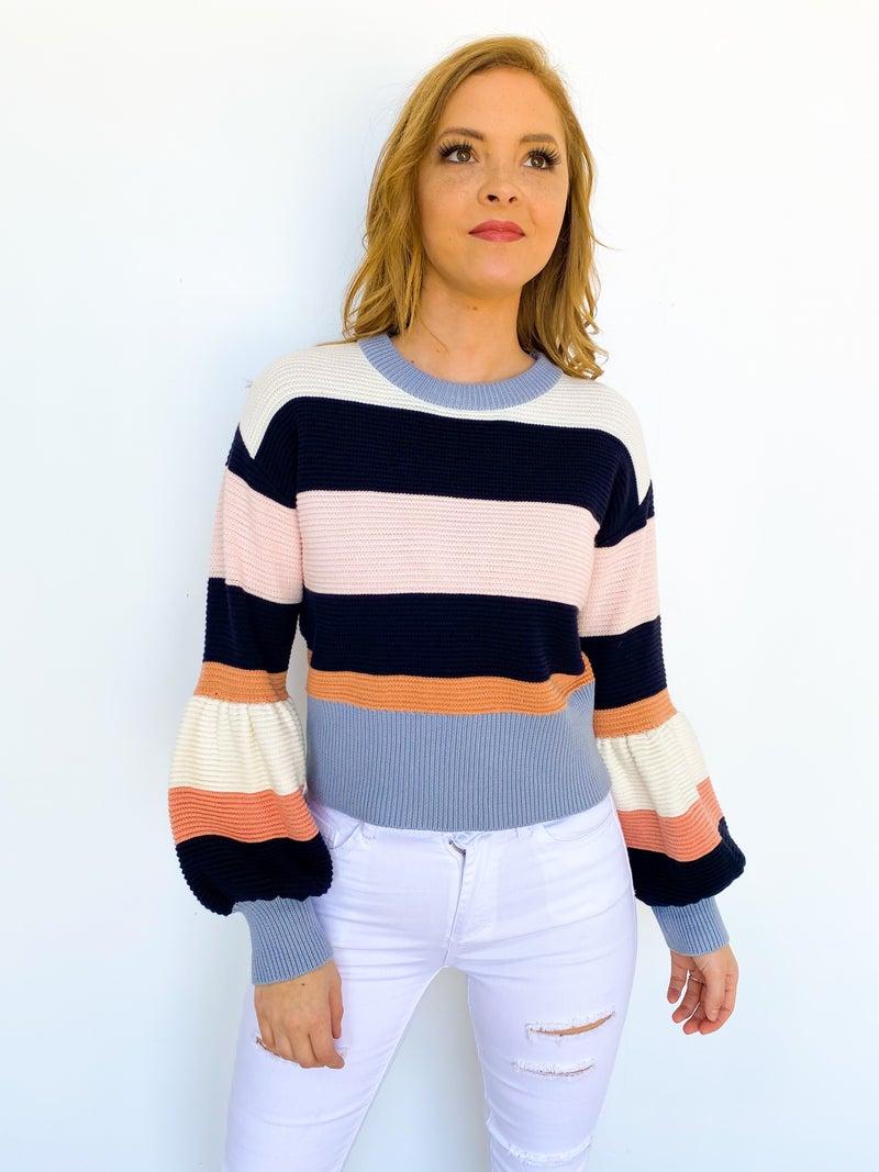 Pastel Princess Stripe Sweater