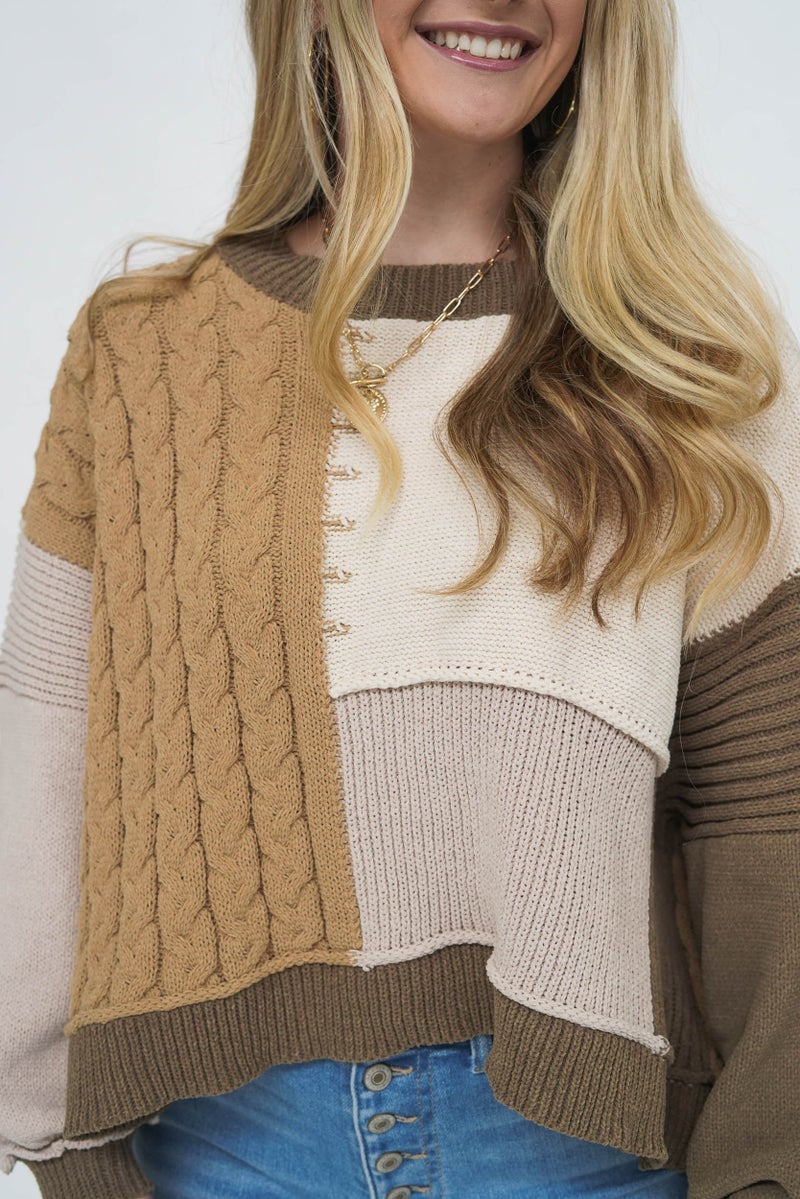 Mossy Bossy Patchwork Sweater *Final Sale*