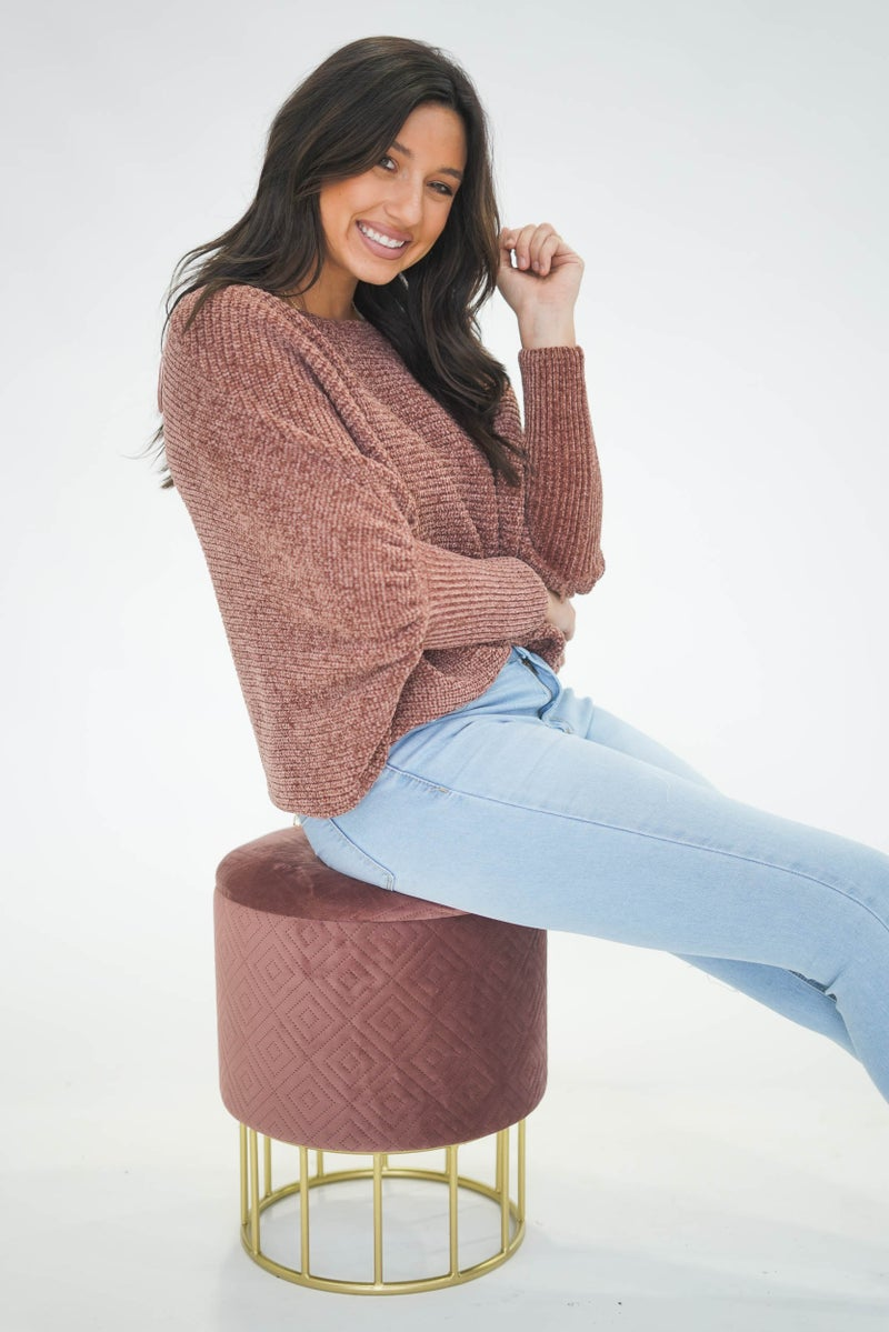 Chelsea Chenille Sweater Rust *Final Sale*