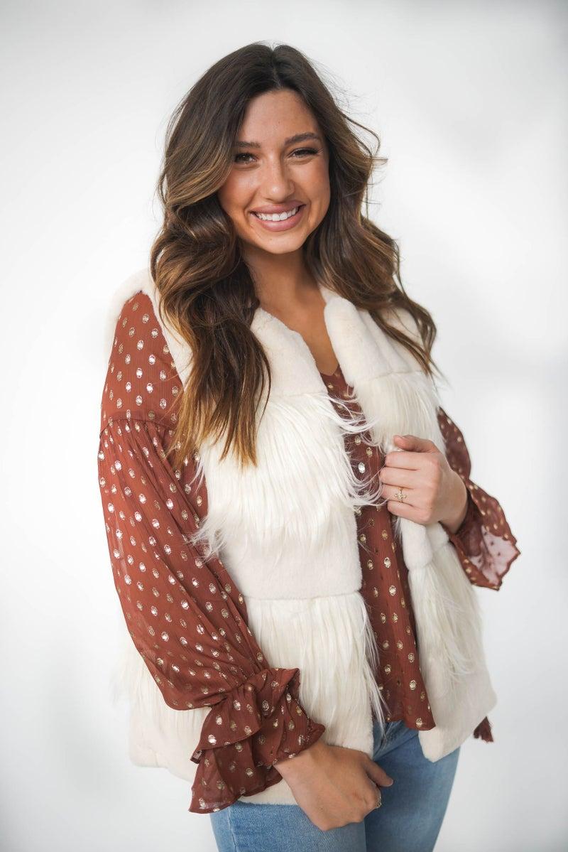 Toasted Marshmallow Fur Vest *Final Sale*