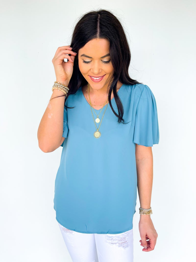 Betsy Butterfly Top - Blue