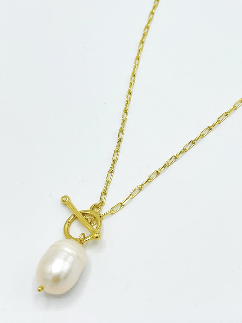 The Solange Lariat With Irregular Pearl Drop *Final Sale*
