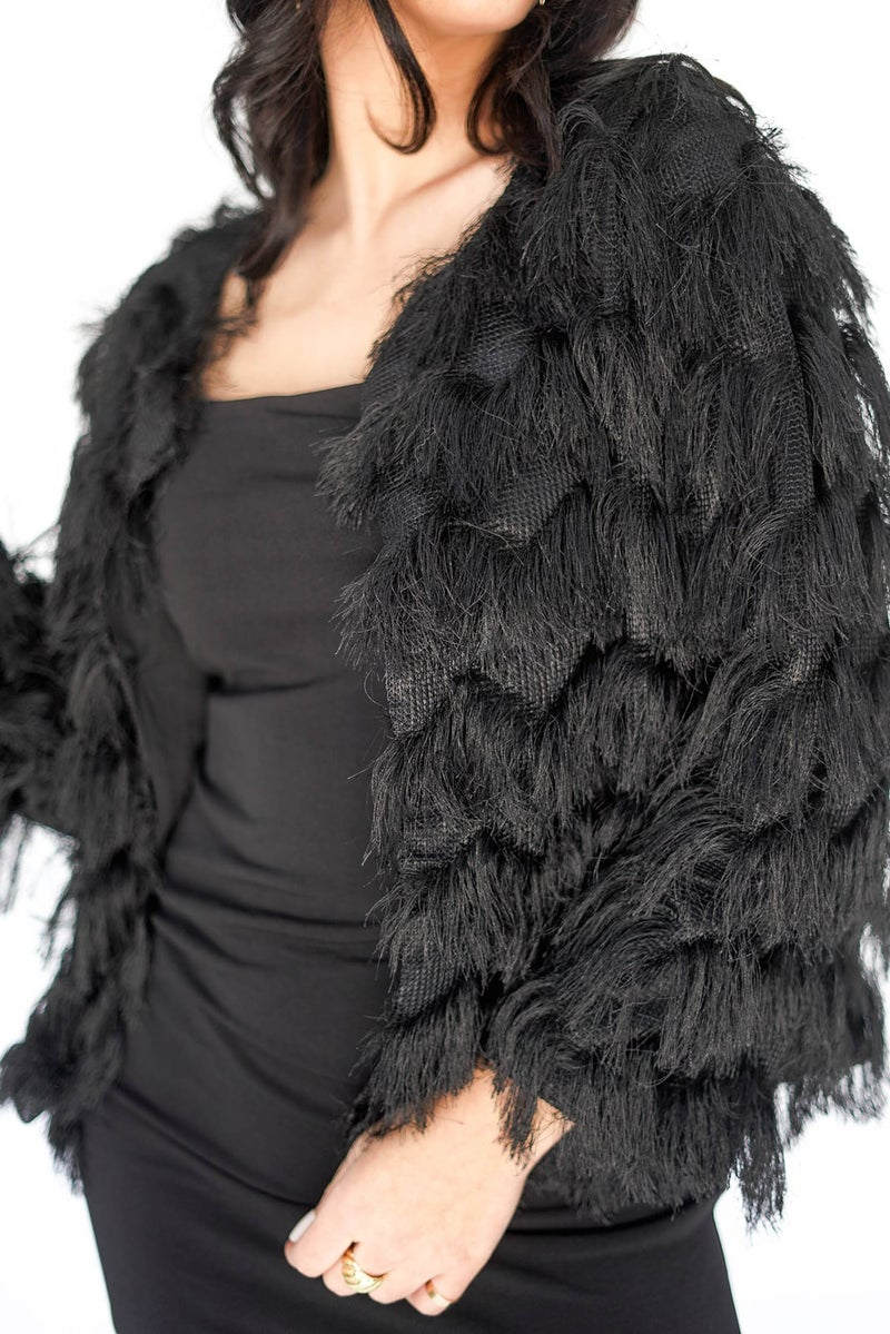 Uptown Girl Fringy Fur Jacket *Final Sale*