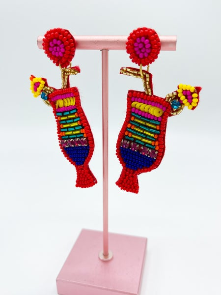 Cabana Cocktail Beaded Earring