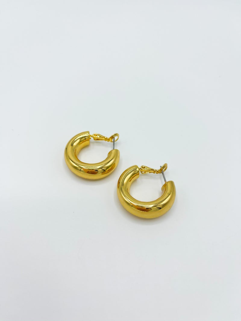 The Capri Thick Gold Hoop