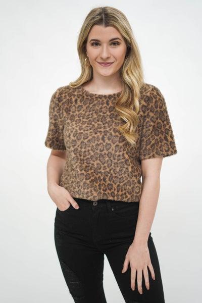 Feelin' Frisky Fur Leopard Top *Final Sale*