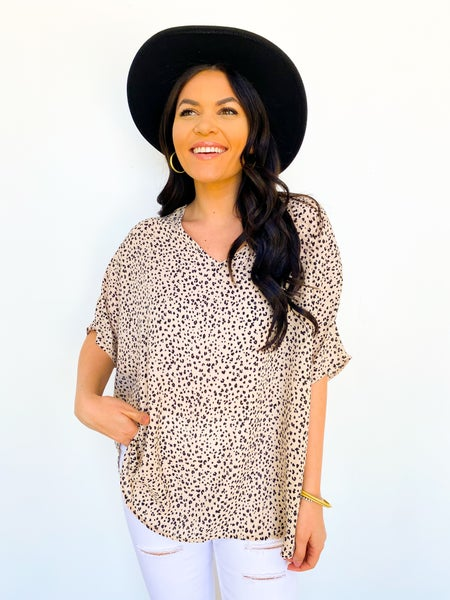 The Kourt Oversized Cheetah Top