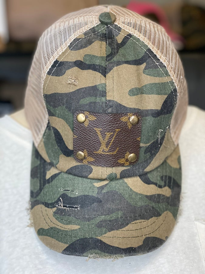 Green Camo Authentic Upcyled LV Hat
