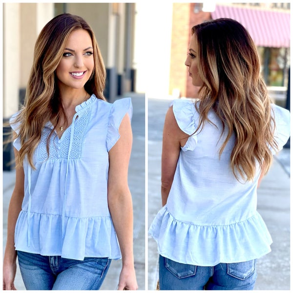 Celeste Flutter Sleeve Top