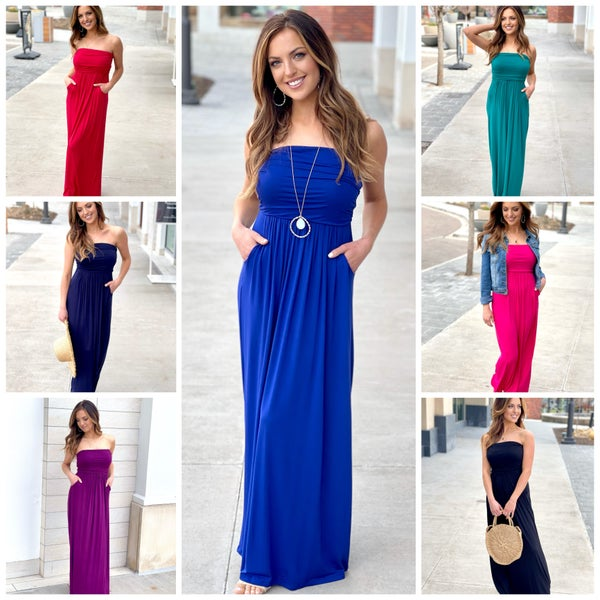 Kira Strapless Maxi Dress