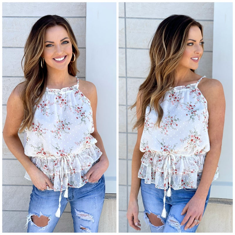 Ginny Floral Ruffle Cami