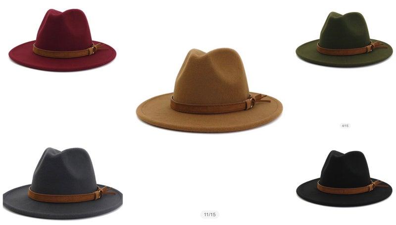 Wide Brim Tassel Strap Hat