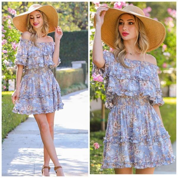 Erica Flounce Dress