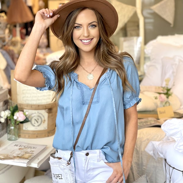 Danielle Chambray Top