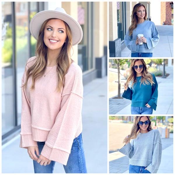Lana Wide Sleeve  Sweater