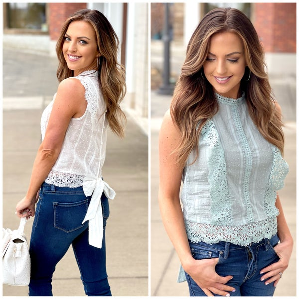 Lacey Bow Back Top