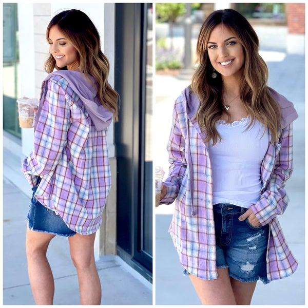 Kalen Hooded Flannel