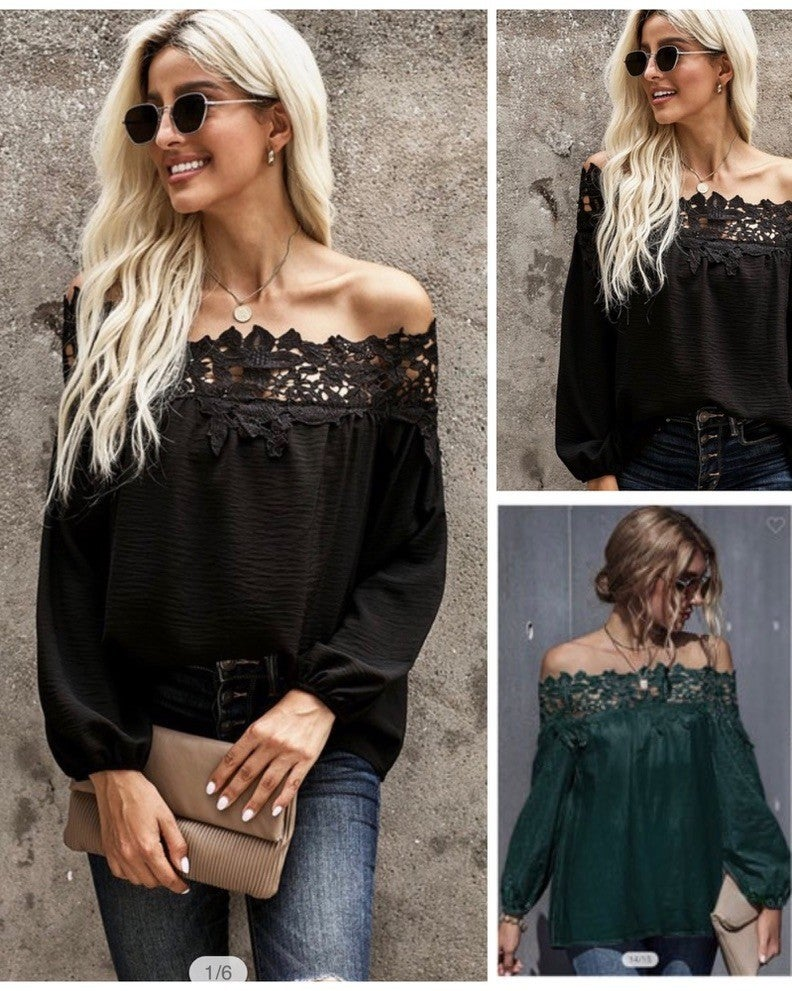 Emmaline Lace Shoulder Top