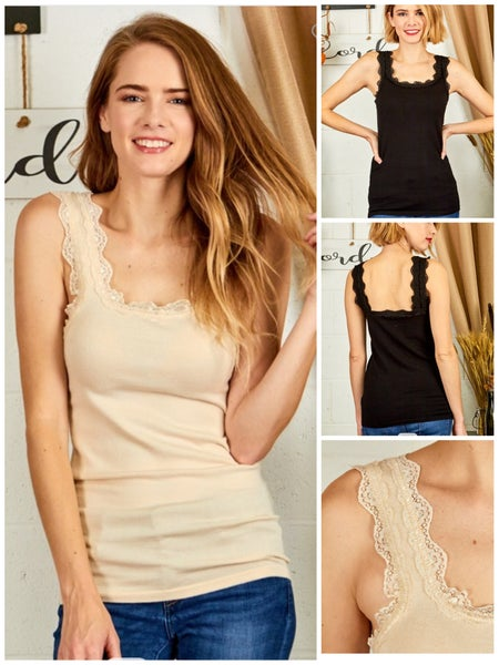 Estella Lace Trim Tank